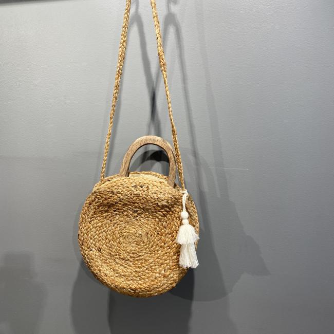 Round Straw Beach Bag