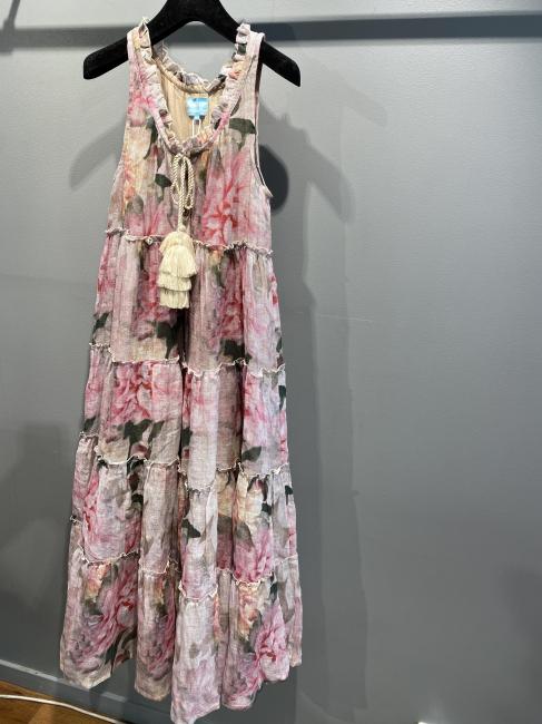 Nadia Linen Maxi Dress