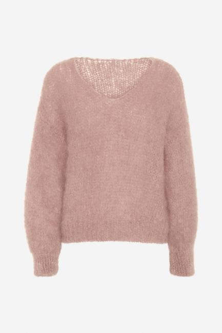 Milana Light Pink Mohair v-neck