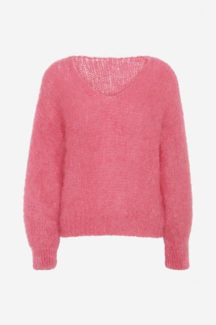 Milana Dark Pink Mohair v-neck