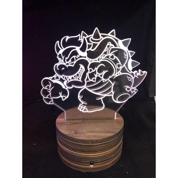 3d Ledlampe - Bowser