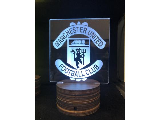 3d Ledlampe - Manchester united
