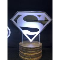 3d Ledlampe - Superman