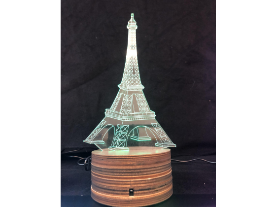 3d Ledlampe - Eiffel tårnet