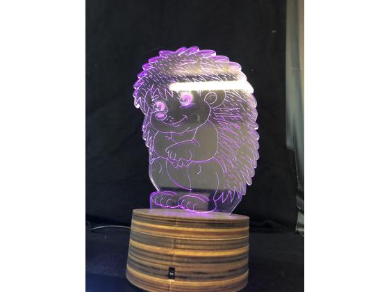 3d Ledlampe - Pinnsvin