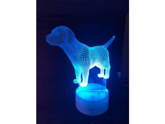 3d Ledlampe - Hund