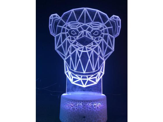 3d Ledlampe - Apekatt
