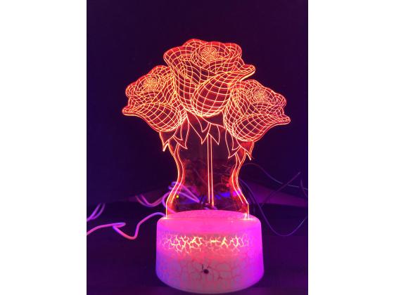 3d Ledlampe - Roser