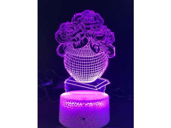 3d Ledlampe - Vase