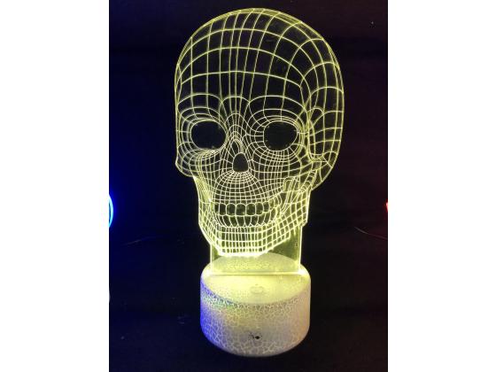 3d Ledlampe - Hodeskalle