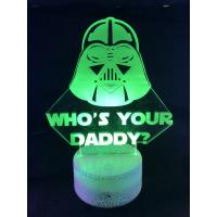 3d Ledlampe - Darth Vader