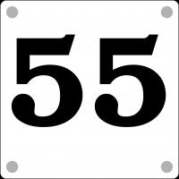 Husnummer 15x15cm - nummer på hvit akryl