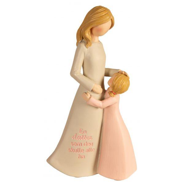 Figur mor/barn beige/rosa En datter som