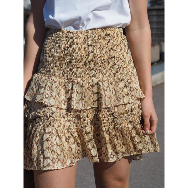 Python Smock Skirt  Dusty Yellow