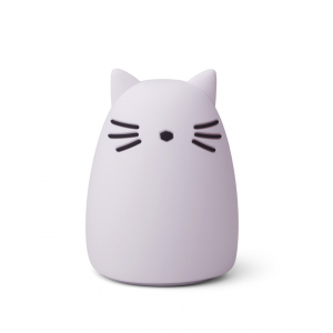 LIEWOOD - WINSTON NATTLAMPE CAT LIGHT LAVENDER