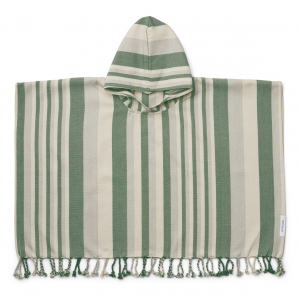 LIEWOOD - ROOMIE PONCHO Y/D STRIPE GARDEN GREEN/SANDY/DOVE BLUE