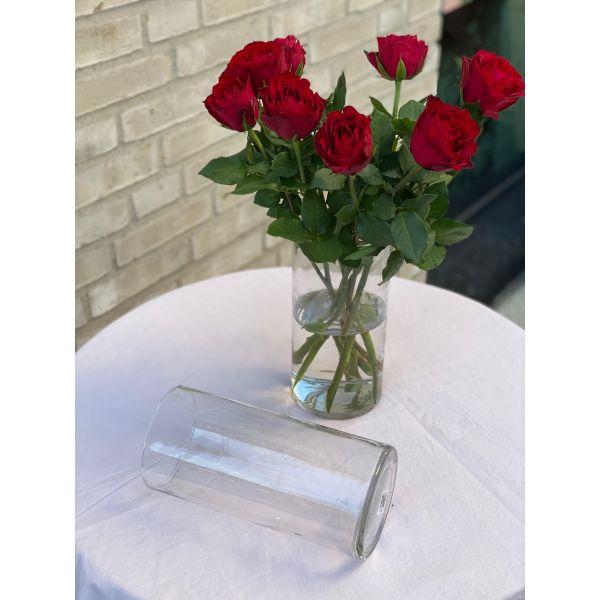 Klassisk glass vase - H:25cm/D:11cm