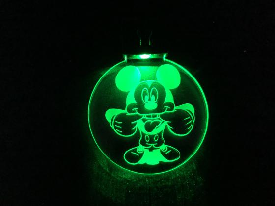 Nøkkelring med ledlys - Mikke mus