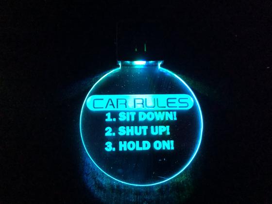 Nøkkelring med ledlys - Car rules
