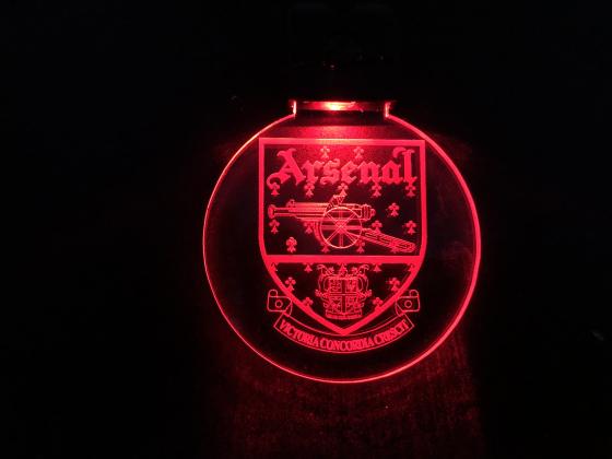 Nøkkelring med ledlys - Arsenal