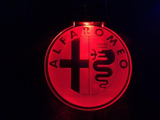 Nøkkelring med ledlys - Alfa Romeo