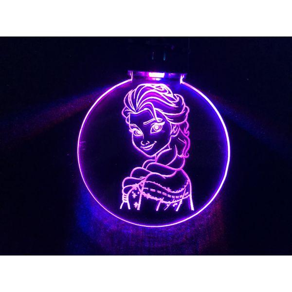 Nøkkelring med ledlys - Elsa