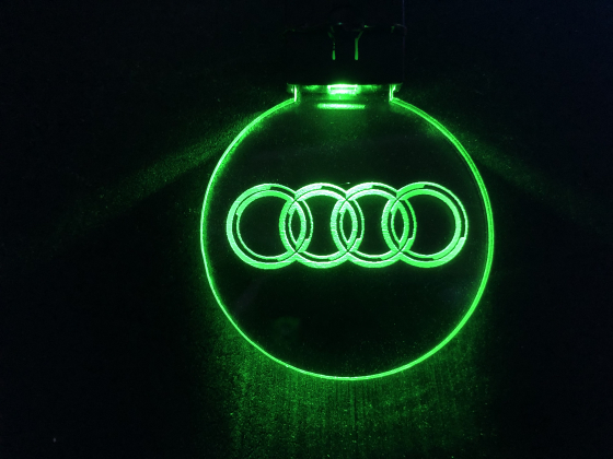 Nøkkelring med ledlys - Audi