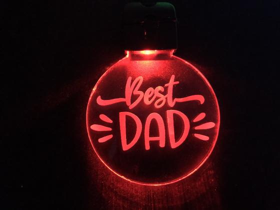 Nøkkelring med ledlys - Best dad