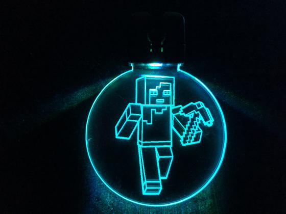 Nøkkelring med ledlys - Minecraft