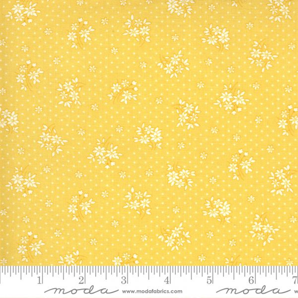 30's playtime yellow floral