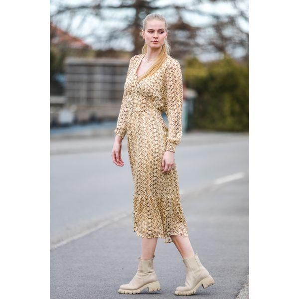 Python Dress Dusty Yellow