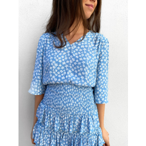 Lura Top - Dusk Blue