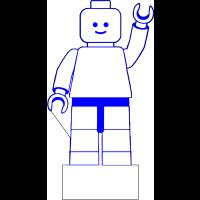 3D Lampe - Legofigur vinkende