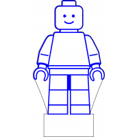 3D Lampe - Legofigur Stående