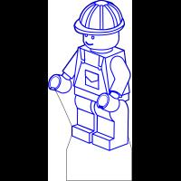 3D Lampe - Legofigur Arbeider