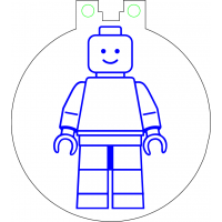 Nøkkelring med ledlys - Lego figur stående