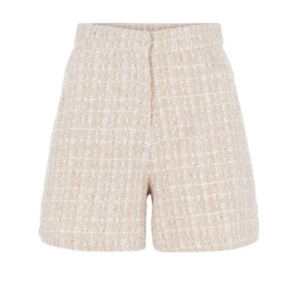 Klarina Boucle Shorts - Blushing Bride