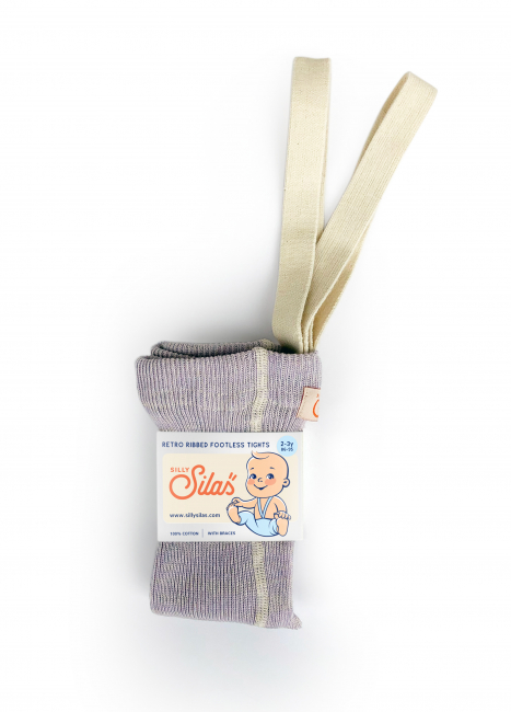 SILLY SILAS - TIGHTS FOOTLESS CREAMY LAVENDER