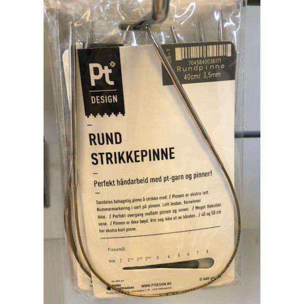Rundpinne messing - 40cm