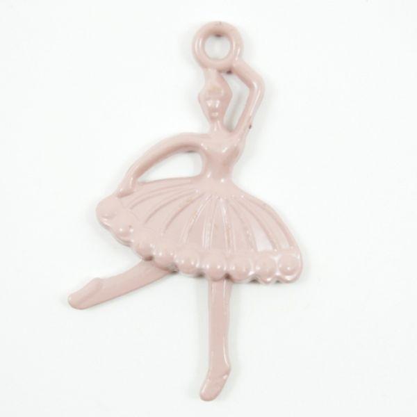 Metall ME143 ballerina rosa Charms