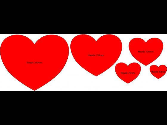 Hjerteform - 50mm bredde