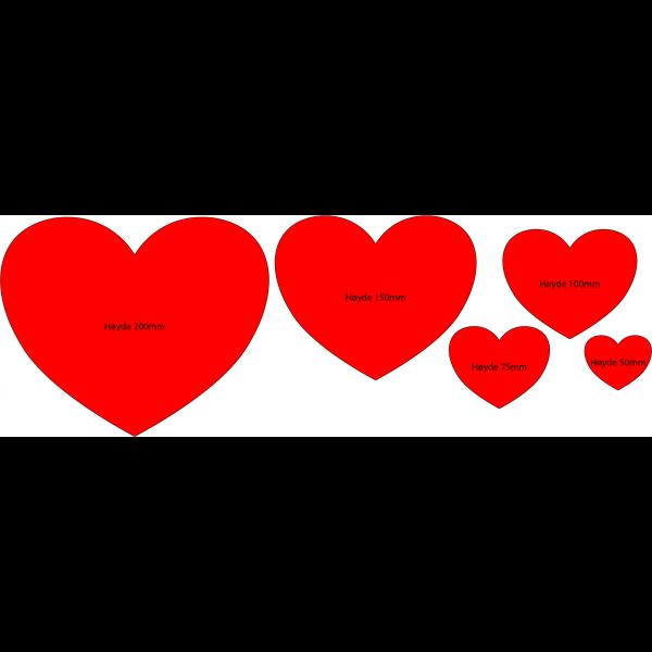 Hjerteform - 125mm bredde