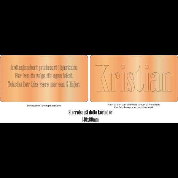 Invitasjonskort 2-sider 10x8cm