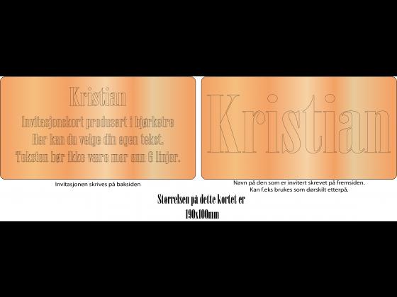 Invitasjonskort 2-sider 19x10cm