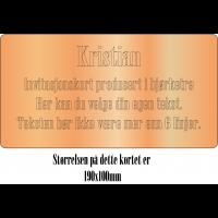 Invitasjonskort 1-side 19x10cm