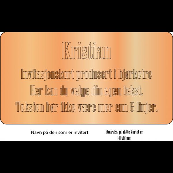 Invitasjonskort 1-side 10x8cm