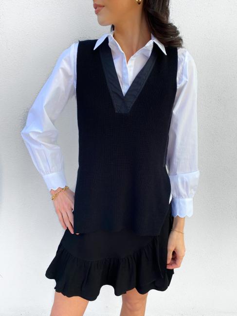 Sapa knit Vest - Black