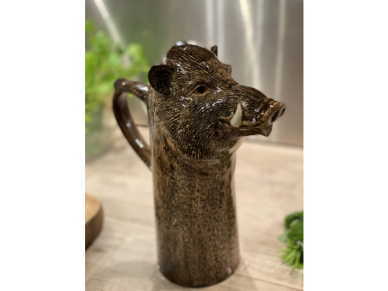 Villsvin mugge karaffel - Quail ceramics (Wild Boar Jug)