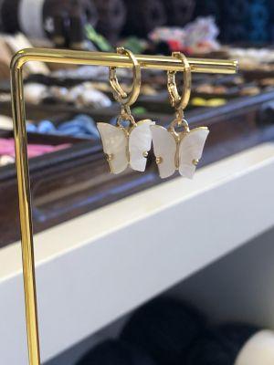 Hengeøredobber - Hvit sommerfugl