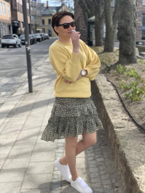 Darling Flower Smock Skirt